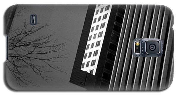Abstract Building Patterns Black White Galaxy S5 Case