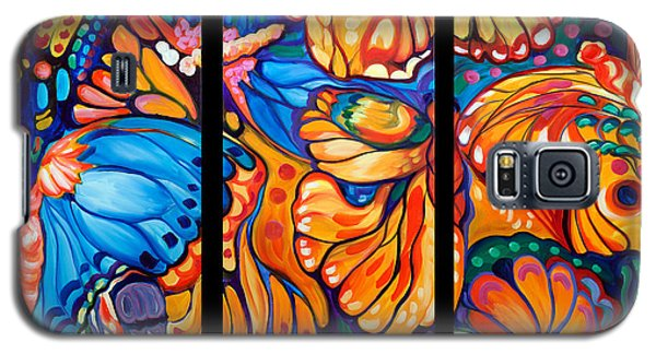 Abstract Butterflies Triptych Galaxy S5 Case