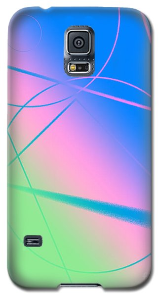 Abstract Circles And Lines Galaxy S5 Case