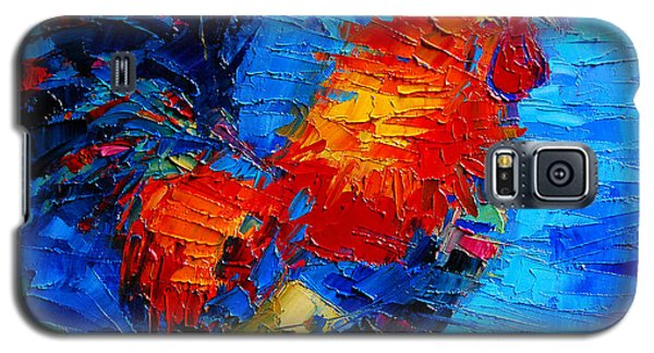 Abstract Colorful Gallic Rooster Galaxy S5 Case