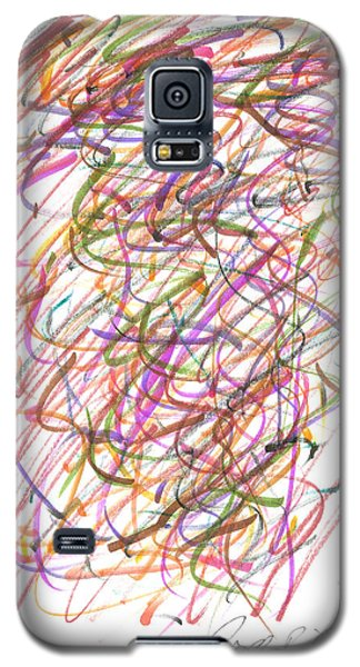 Galaxy S5 Case featuring the painting Abstract Confetti Celebration by Joseph Baril