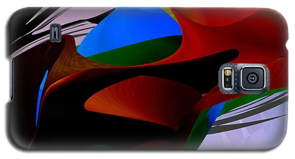 Galaxy S5 Case featuring the digital art Abstract - Dark No 2 by rd Erickson