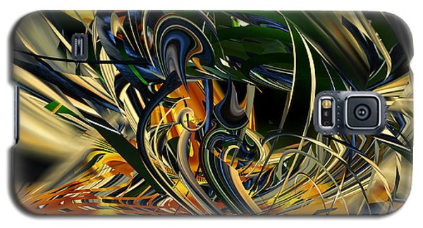 Galaxy S5 Case featuring the digital art Descent Into Hell - Abstract by rd Erickson