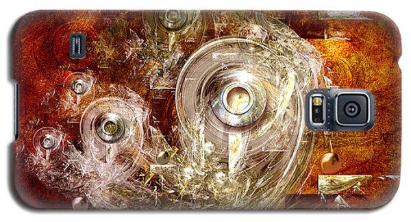 Galaxy S5 Case featuring the digital art Abstract Discs by Alexa Szlavics