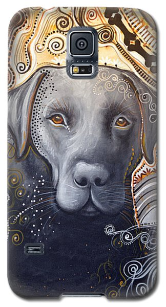 Abstract Dog Art Print ... Rudy Galaxy S5 Case by Amy Giacomelli