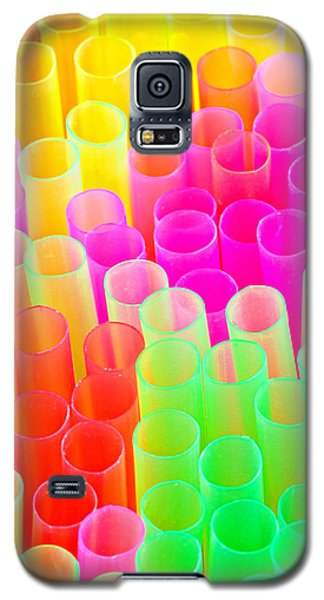 Abstract Drinking Straws #2 Galaxy S5 Case by Meirion Matthias