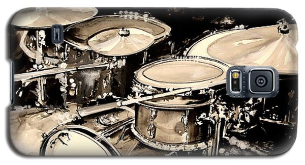Drum Galaxy S5 Case - Abstract Drum Set by J Vincent Scarpace