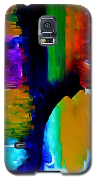 Galaxy S5 Case featuring the painting Abstract Du Colour by Lisa Kaiser