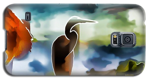 Abstract Egret Profile Galaxy S5 Case