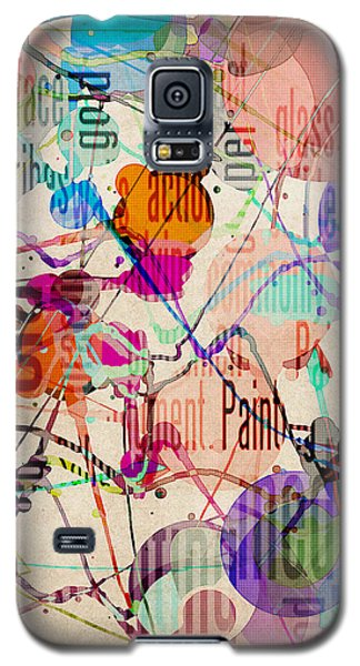 Galaxy S5 Case featuring the digital art Abstract Expressionism by Phil Perkins