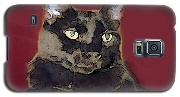 Abstract Feline Galaxy S5 Case