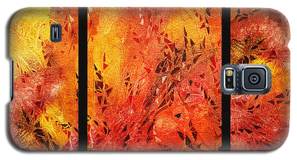 Abstract Fireplace Galaxy S5 Case