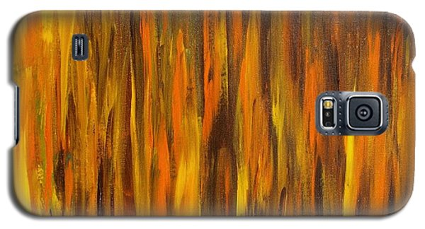 Galaxy S5 Case featuring the painting Abstract Fireside by Susan  Dimitrakopoulos