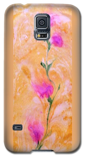 Galaxy S5 Case featuring the painting Abstract Floral by Mike Breau