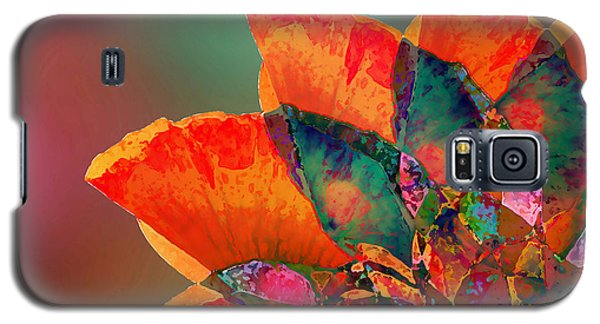 Abstract Flower Galaxy S5 Case by Klara Acel