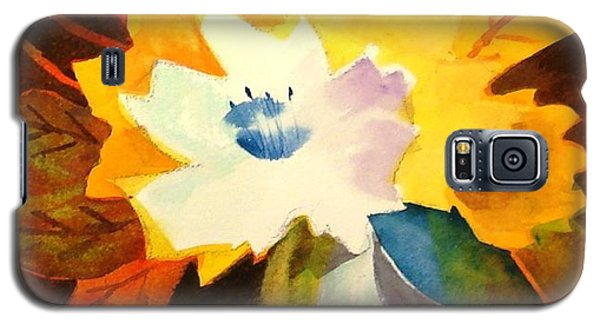 Galaxy S5 Case featuring the painting Abstract Flowers 2 by Marilyn Jacobson