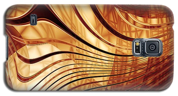 Abstract Gold 2 Galaxy S5 Case