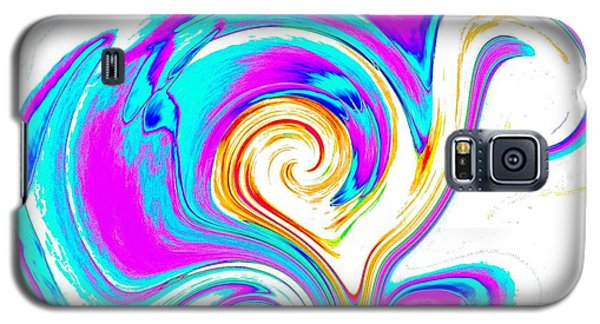 Abstract Heart Art Galaxy S5 Case by Annie Zeno