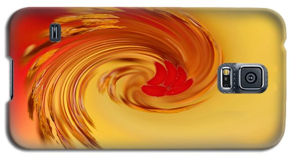 Galaxy S5 Case featuring the photograph Abstract Swirl Hibiscus Flower by Debbie Oppermann
