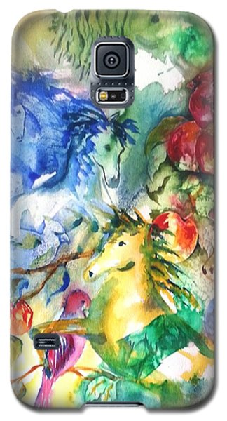 Abstract Horses Galaxy S5 Case