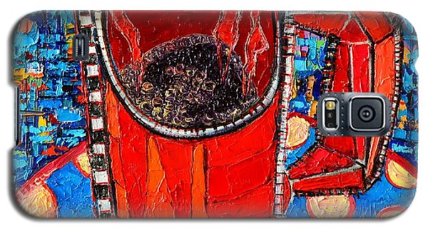 Abstract Hot Coffee In Red Mug Galaxy S5 Case by Ana Maria Edulescu