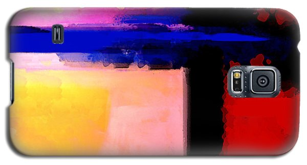 Galaxy S5 Case featuring the painting Abstract Impressions Of A Blue Horizon by Karon Melillo DeVega