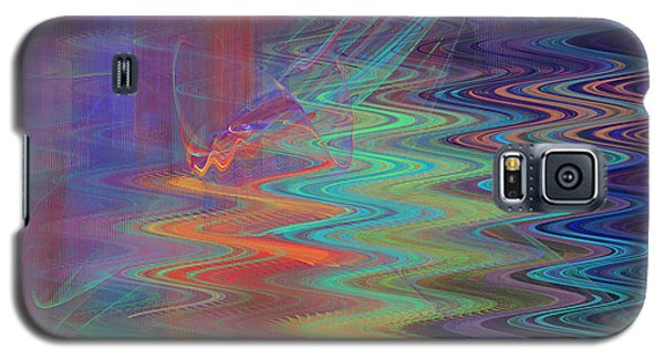 Abstract In Blue And Purple Galaxy S5 Case