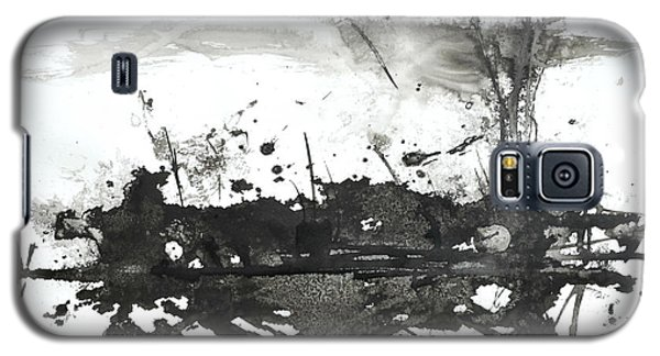 Modern Abstract Black Ink Art Galaxy S5 Case