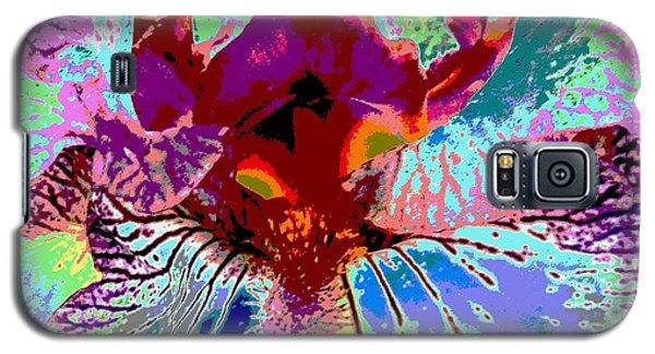 Abstract Iris Galaxy S5 Case by Sally Simon