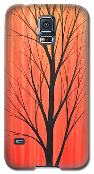 Galaxy S5 Case featuring the painting Abstract Landscape Original Trees Art Print Painting ... Twilight Trees #1 by Amy Giacomelli