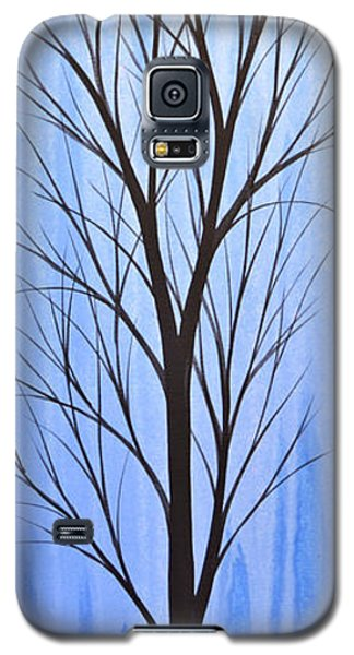 Abstract Landscape Original Trees Art Print Painting ... Twilight Trees #4 Galaxy S5 Case by Amy Giacomelli