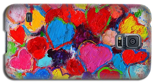 Abstract Love Bouquet Of Colorful Hearts And Flowers Galaxy S5 Case by Ana Maria Edulescu
