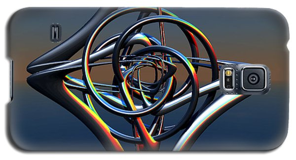 Galaxy S5 Case featuring the digital art Abstract Metal by Melissa Messick