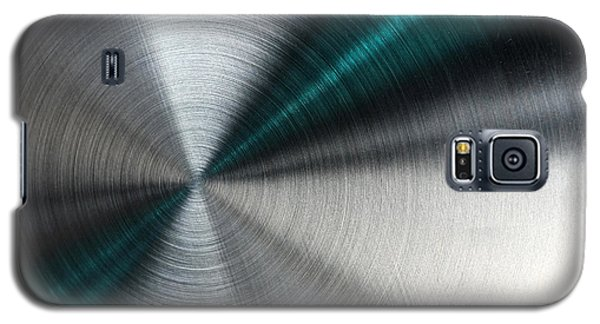 Abstract Metallic Texture With Blue Rays. Galaxy S5 Case