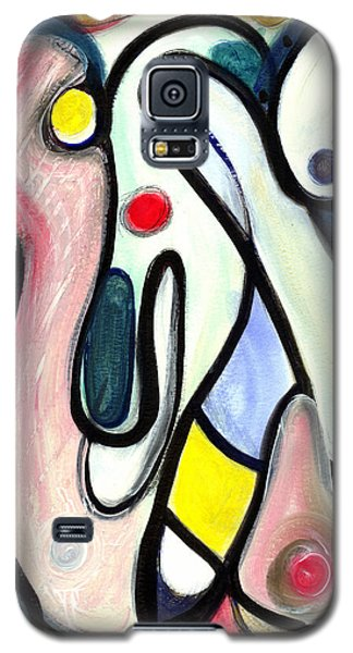 Galaxy S5 Case featuring the painting Abstract Mystery by Stephen Lucas