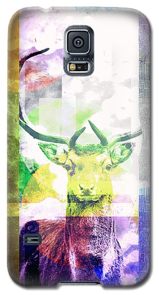 Abstract Nature Deer Portrait Galaxy S5 Case