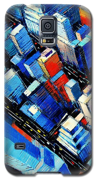Abstract New York Sky View Galaxy S5 Case