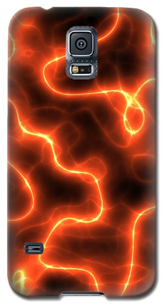 Abstract Orange Electricity Galaxy S5 Case