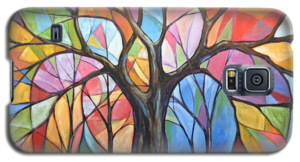 Abstract Original Tree Art Painting ... Colors Of The Wind Galaxy S5 Case by Amy Giacomelli