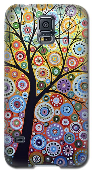 Abstract Original Tree Art Painting ... Sun Arising Galaxy S5 Case