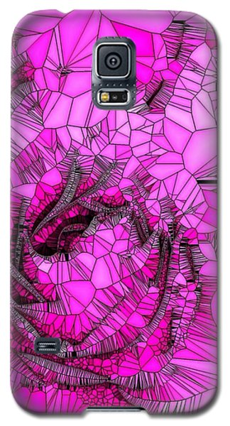 Abstract Pink Rose Mosaic Galaxy S5 Case