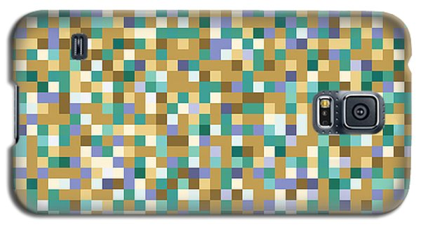 Galaxy S5 Case featuring the digital art Abstract Pixels by Mike Taylor