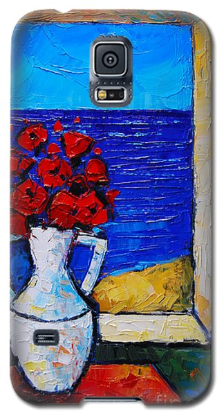 Abstract Poppies By The Sea Galaxy S5 Case