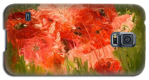 Abstract Poppies Galaxy S5 Case