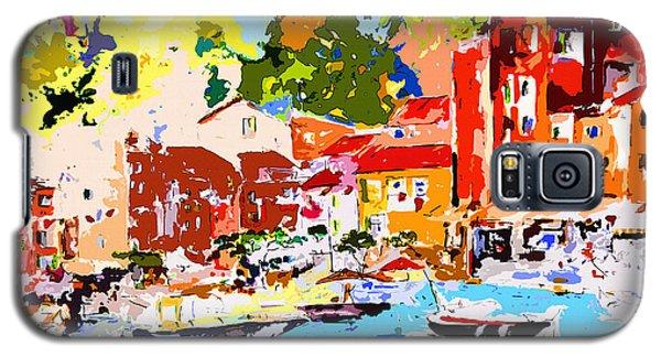 Abstract Portofino Italy Decorative Art Galaxy S5 Case