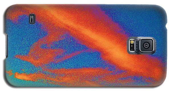 Abstract Red Blue And Green Sky Galaxy S5 Case