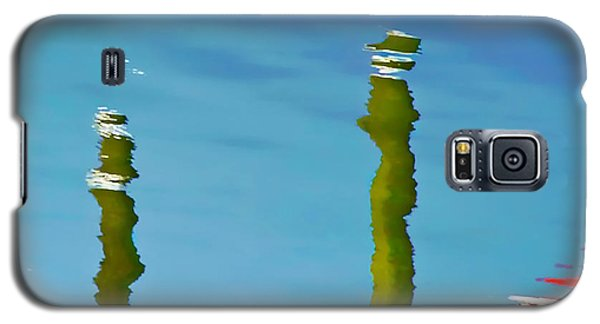Galaxy S5 Case featuring the photograph Abstract Reflection In River by Gary Slawsky