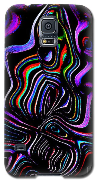 Galaxy S5 Case featuring the digital art Abstract  Rhythm A Contemporary Modern Digital Art by Annie Zeno
