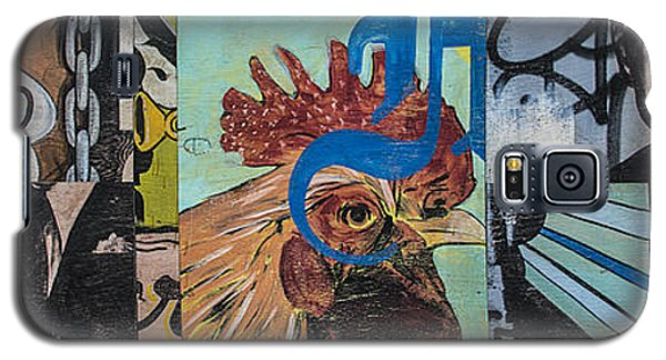 Galaxy S5 Case featuring the mixed media Abstract Rooster Panel by Terry Rowe