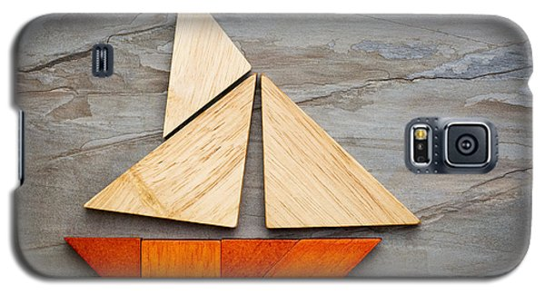 Abstract Sailboat From Tangram Puzzle Galaxy S5 Case